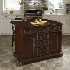 Colonial Classic Kitchen Island with Wood Top