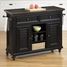 Bermuda Kitchen Cart with Stainless Steel Top