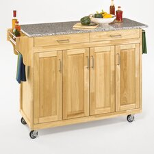 HO5431Create-a-Cart Kitchen Cart with Granite Top
