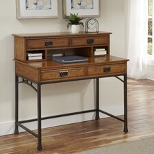 Modern Craftsman Computer Desk with Hutch