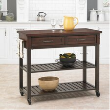Cabin Creek Kitchen Island with Wood Top II