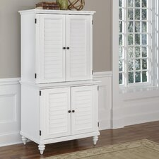 Bermuda Armoire Desk with Compact and Hutch