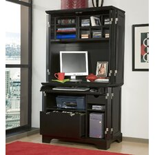 Bedford Compact Office Cabinet and Hutch