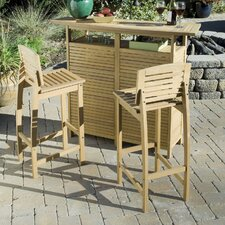 <strong>Home Styles</strong> Bali Hai 3 Piece Bar Set in Teak