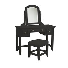 Bedford Two Drawer Vanity Set with Mirror