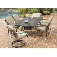Covington 7 Piece Dining Table Set with Cushions