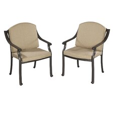 <strong>Home Styles</strong> Covington Dining Arm Chair with Cushion (Set of 2)