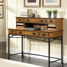 Modern Craftsman Executive Desk with Hutch