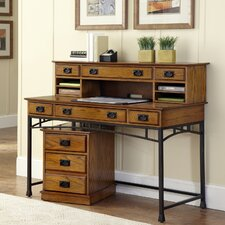 Modern Craftsman Executive Desk with Hutch and Mobile File