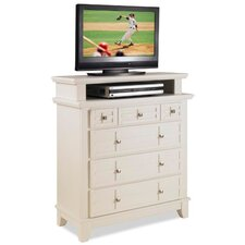 "Arts & Crafts 4 Drawer 36"" TV Media Chest"