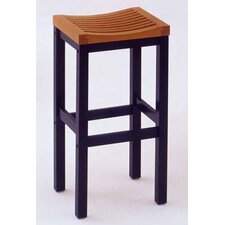 "24"" Counter Stool in Black and Cottage Oak"