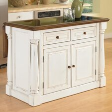 <strong>Home Styles</strong> Monarch Kitchen Island with Granite Top