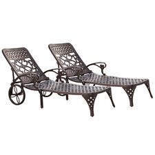 <strong>Home Styles</strong> Biscayne Chaise Lounge (Set of 2)