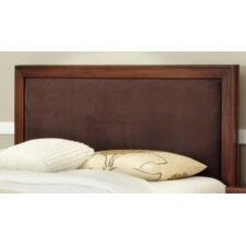 Duet Queen Panel Headboard in Brown Leather