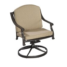 Covington Swivel Dining Arm Chair with Cushion