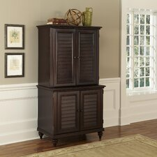 Bermuda Compact Computer Cabinet and Hutch