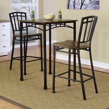 Modern Craftsman 3 Piece Bistro Table Set