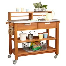 Bali Hai Wood Potting Bench