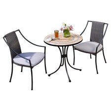 <strong>Home Styles</strong> Terra Cotta 3 Piece Dining Set with Cushions