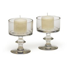 Cordial Glass Votive Holders (Set of 2)