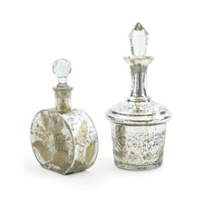 2 Piece Vintage Perfume Bottle Set