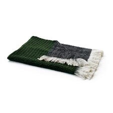 Reverse Mohair Wool Throw Blanket