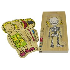 Wooden 5 Layer Girl Puzzle