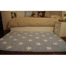 "Teppich ""Sterne"" in Blau / Weiß"