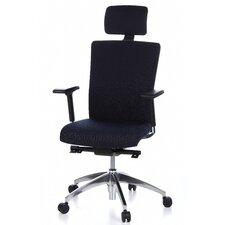 """Bürostuhl / Chefsessel höhen- und tiefenverstellbar """"Atlanta Lux"""" mit Armlehnen, Kopf- und Lendenwirbelstütze"""