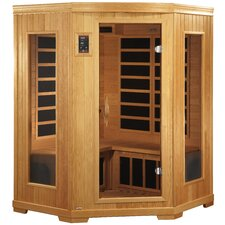 """Grand"" 2-3 Person Corner Carbon FAR Infrared Sauna"