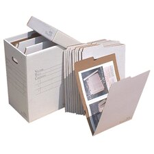 Vertical Flat File System Filing Box (Set of 10)