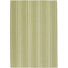 Farmhouse Stripes Green Rug