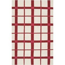 Happy Cottage White / Venetian Red Rug