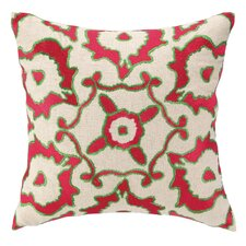 <strong>Courtney Cachet</strong> Vintage Ikat Embroidered Decorative Pillow