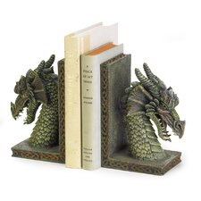 Cresting Dragon Book Ends (Set of 2)