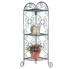 Scrollwork Corner Plant Stand