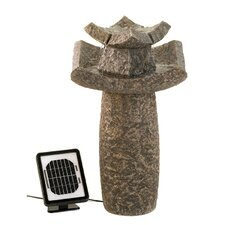 <strong>Zingz & Thingz</strong> Temple Sculpture Solar Water Fountain