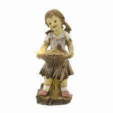 Birdie Girl Light-up Statue