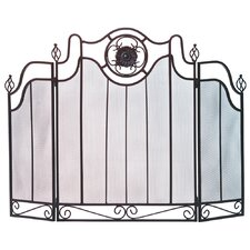 Italian Countryside 3 Panel Iron Fireplace Screen