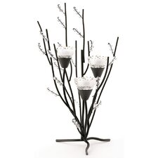 Frosted Branches Candle Holder