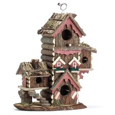 Tree Bark Hanging Birdhouse