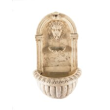 Regal Lion Fiberglass Wall Fountain