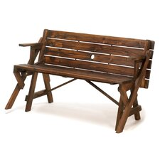 Transforming Wood Garden Bench and Picnic Table