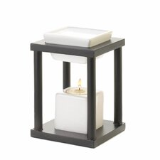 Contemporary Ceramic and Wood Tealight Oil Warmer