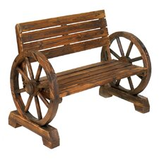 Wheels Wood Garden Bench