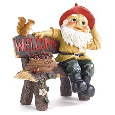 <strong>Zingz & Thingz</strong> Welcoming Garden Gnome Statue