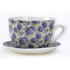 Flowering Cup and Saucer Planter