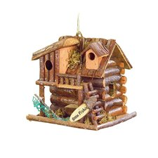 Fishing Cabin Hanging Birdhouse
