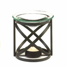 <strong>Zingz & Thingz</strong> Axis Metal and Glass Tealight Oil Warmer