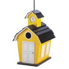Country Schoolhouse Hanging Birdhouse